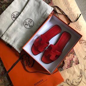 Hermes Oran Sandals, 38.5 EU.